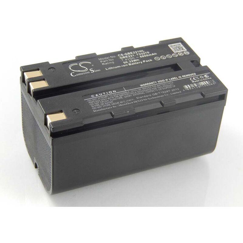 Batterie compatible avec Leica TS06, TS09, TS11, TS12, TS15 dispositif de mesure laser, outil de mesure (6800mAh, 7,4V, Li-ion) - Vhbw