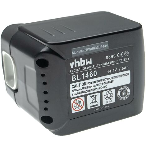 vhbw Batterie compatible avec Makita BDF441, BDF441RFE, BDF441SFE, BDF441Z, BDF442 outil électrique (7500mAh Li-ion 14,4 V)