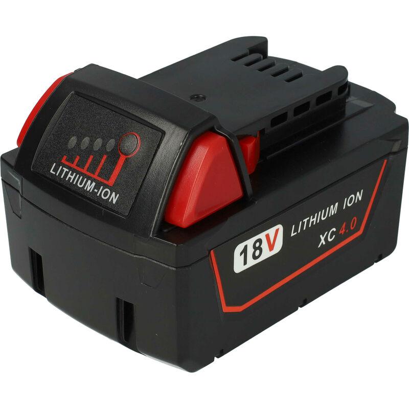 Batterie compatible avec Milwaukee 0521-20, 0521-21, 0521-22, 0522-20, 0522-21, 0522-22, 0522-24 outil électrique (4000mAh Li-ion 18V) - Vhbw