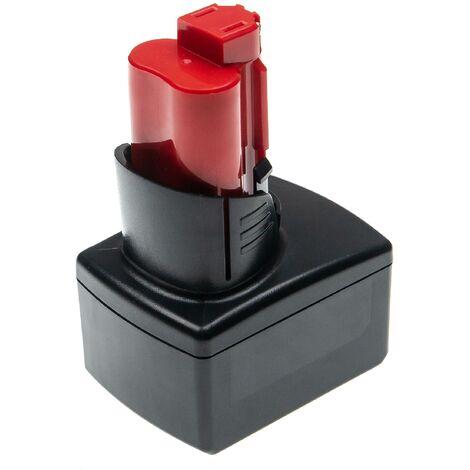 vhbw Batterie compatible avec Milwaukee M12 HPT-202C M-KIT, M12 HPT-202C TH-KIT outil électrique (6000mAh Li-ion 12 V)