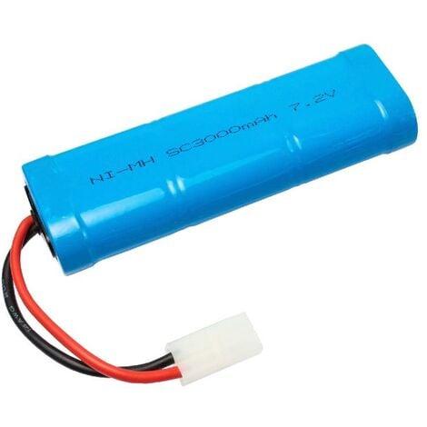 vhbw Batterie compatible avec modélisme RC - divers modèles réduits : voitures de course, hélicoptères, avions, bateaux etc (3000mAh, 7,2V, NiMH)
