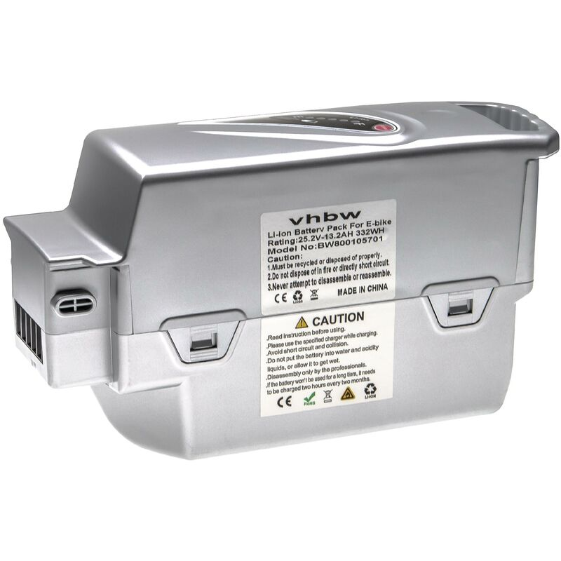 vhbw batterie compatible avec Panasonic Flyer C10 HS, C11 HS, C12 HS, C6, C8 HS, L10 HS, L11 HS E-bike (13200mAh, 25,2V, Li-ion)