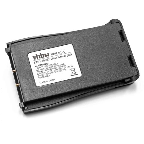 vhbw Batterie compatible avec Retevis H777 radio talkie-walkie (1500mAh, 3,7V, Li-ion)