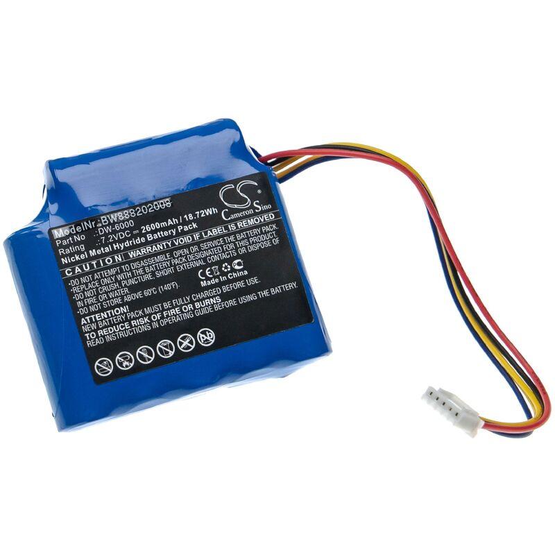 vhbw Batterie compatible avec Tosight DW-6000, DWK-6000 outil de mesure (2600mAh, 7,2V, NiMH)