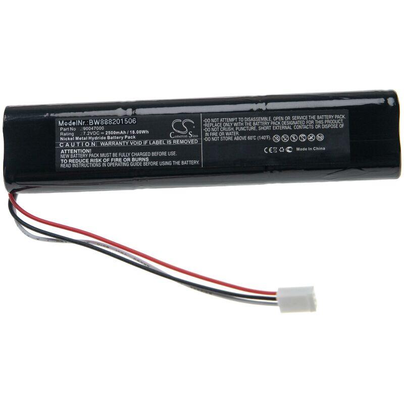 vhbw Batterie compatible avec Trilithic 860 DSPi, 860DSP outil de mesure (2500mAh 7,2V NiMH)