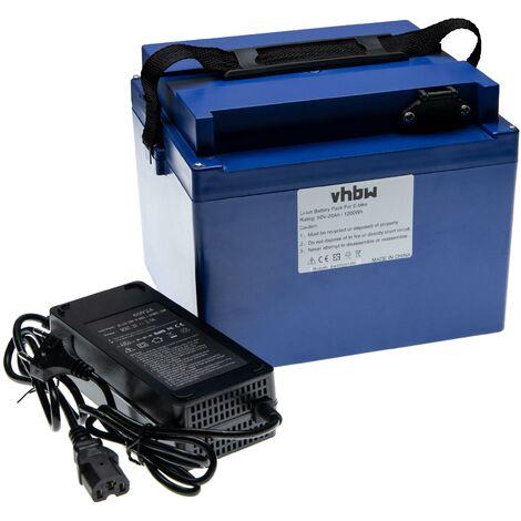 """main image of """"vhbw Batterie de rechange 20Ah 60V Li-Ion chargeur inclus compatible avec divers fauteuils roulants, trottinettes, vélos électriques et plus"""""""