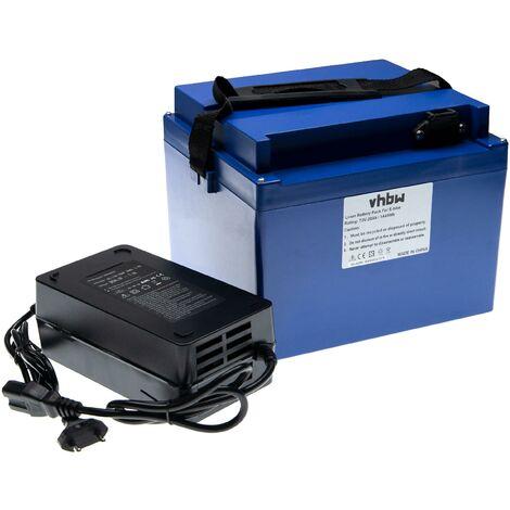 """main image of """"vhbw Batterie de rechange 20Ah 72V Li-Ion chargeur inclus compatible avec divers fauteuils roulants, trottinettes, vélos électriques et plus"""""""