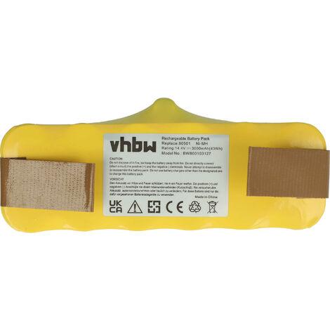 vhbw batterie de rechange compatible avec iRobot Roomba séries 500, 600, 700, 800, 900 aspirateur - (NiMH, 3000mAh, 14.4V)