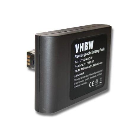 vhbw Batterie Li-Ion 1500mAh (14.4V) pour aspirateur robot ménager Home Cleaner Dyson DC30