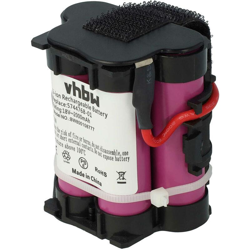 batterie Li-Ion 2000mAh (18V) pour Gardena R70 Li, R70Li, R75 Li, R75Li Tondeuse à gazon - Vhbw