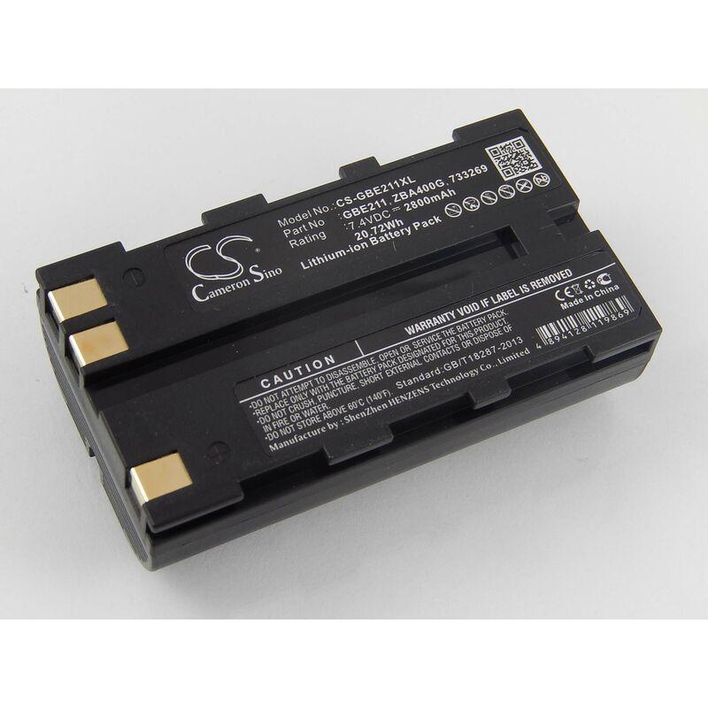 vhbw Batterie Li-Ion 2800mAh (7.4V) pour caméra laser Geomax Stonex R6, Geomax Zoom 20, Zoom 30, Zoom 35, Zoom 80 comme Geomax ZBA200, ZBA400