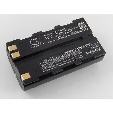 vhbw Batterie Li-Ion 2800mAh (7.4V) pour caméra laser Geomax Zenith 10, 20, 25 comme 724117, 733269, GEB90.