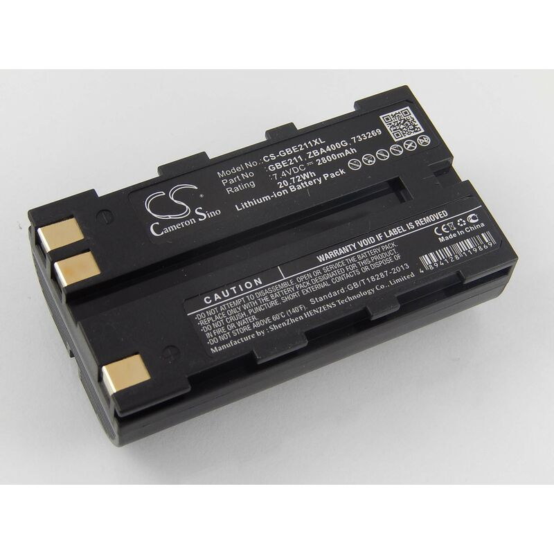 vhbw Batterie Li-Ion 2800mAh (7.4V) pour caméra laser Leica Flexline TS02, TS06, TS09 comme 724117, 733269, GEB90.