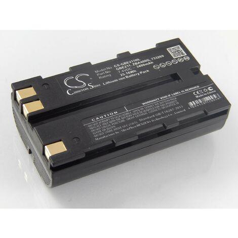 vhbw Batterie Li-Ion 3400mAh (7.4V) pour caméra laser Geomax Zenith 10, 20, 25 comme 724117, 733269, GEB90.