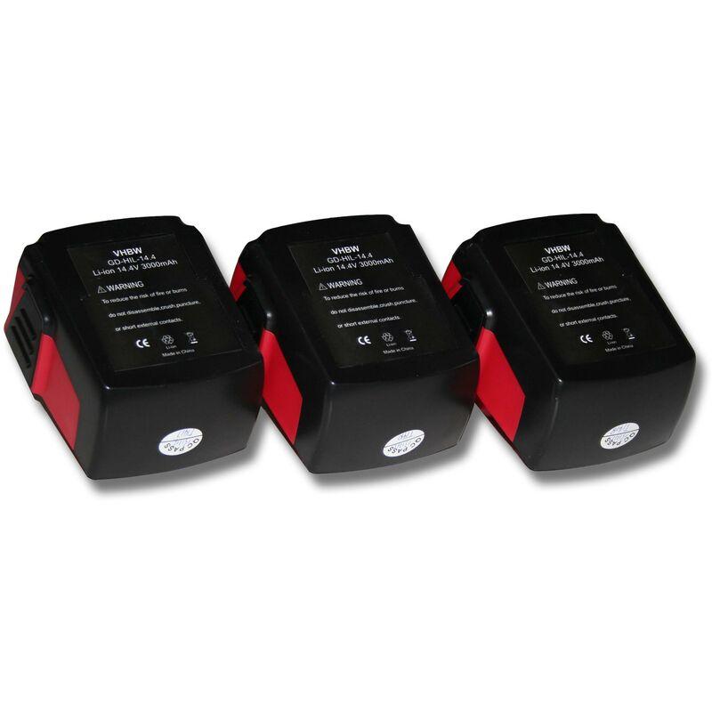 Batterie mAh pour outils électriques Hilti SFL Flashlight, SID 144-A CPC Impact Driver comme Hilti B144, B-144. - Vhbw