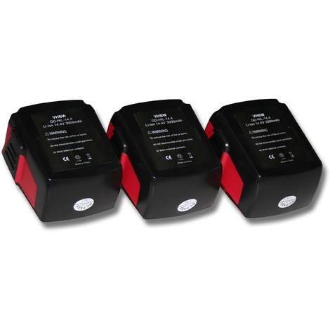 vhbw Batterie mAh pour outils électriques Hilti SFL Flashlight, SID 144-A CPC Impact Driver comme Hilti B144, B-144.