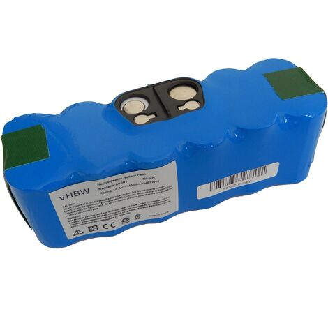 vhbw batterie Ni-MH 4500mAh (14.4V) compatible avec iRobot Roomba 866, 886, 900, 980 aspirateur remplace 11702, GD-Roomba-500, VAC-500NMH-33.