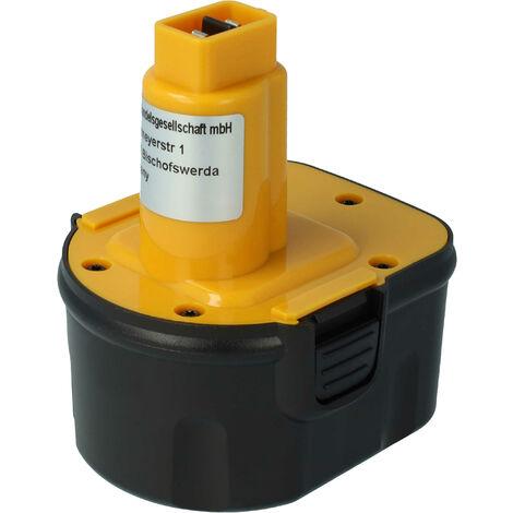vhbw Batterie NiMH 2000mAh pour outils électriques Dewalt DCD910KX, DCD940B2, DCD945B2, DCDK12, DE9071, DW051K comme PS130, A9252, DC9071, etc
