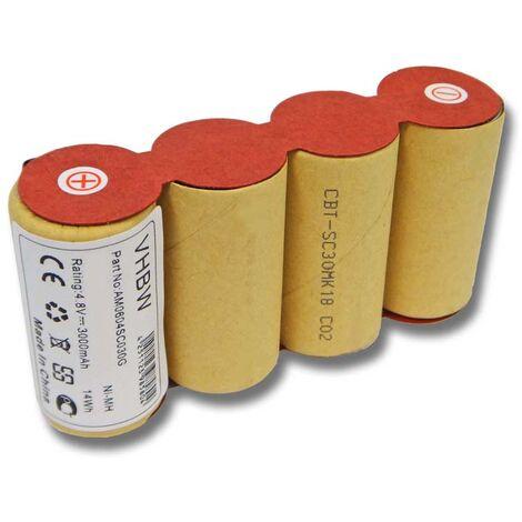 vhbw batterie NiMH 3000mAh (4.8V) pour balai électrique et robot ménager, remplace Kärcher ABS-K55