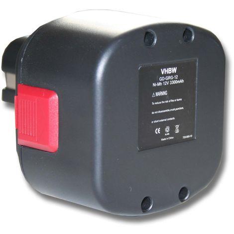 vhbw Batterie NiMH 3300mAh (12V) pour outils électriques Tools Lincoln LIN-1240 Grease Guns 12V, LNI-1201, LNI-1242, LNI-1244, Lubrication 1201
