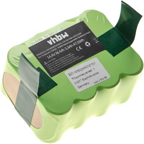 vhbw batterie NiMH 3300mAh (14.4V) pour robot aspirateur Candy Hoover RBC001011, RBC002011, RBC003011, RBC003021, RBC0035011 remplace YX-Ni-MH-022144