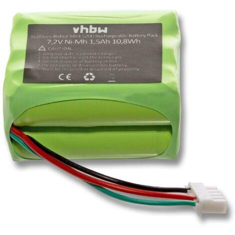 vhbw Batterie pour aspirateur et robot ménager compatible avec Proscenic Pro Jojo (1500mAh, 7.2V, NiMH)