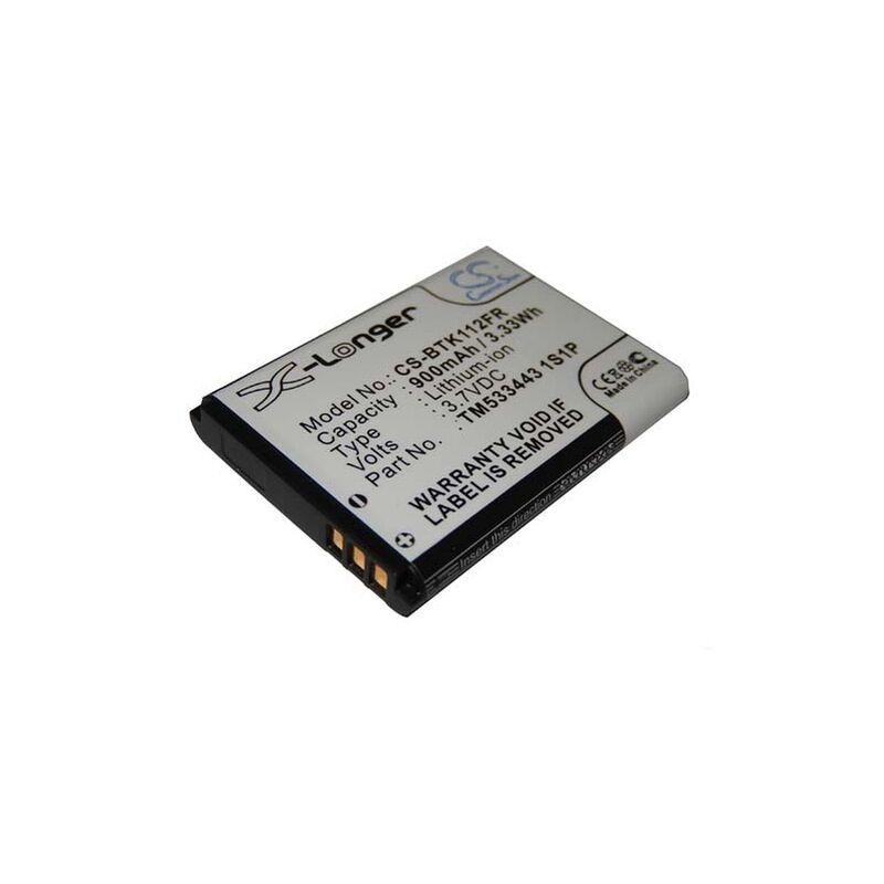 vhbw batterie pour dispositif mains-libres Bluetooth FLEXTONE ECHO HD eR1 PRESTIGIO, RoadRunner 505, remplace TM533443 1S1P (Li-Ion, 900mAh, 3.7V)