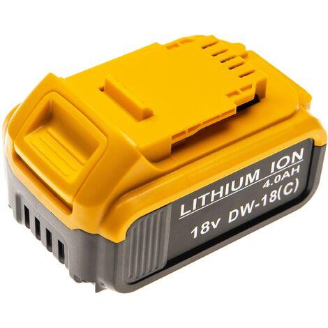 vhbw Batterie remplace Dewalt DCB201-2, DCB203, DCB204, DCB182-XE, DCB184, DCB205, DCB206 pour outil électrique (4000mAh Li-Ion 18V)