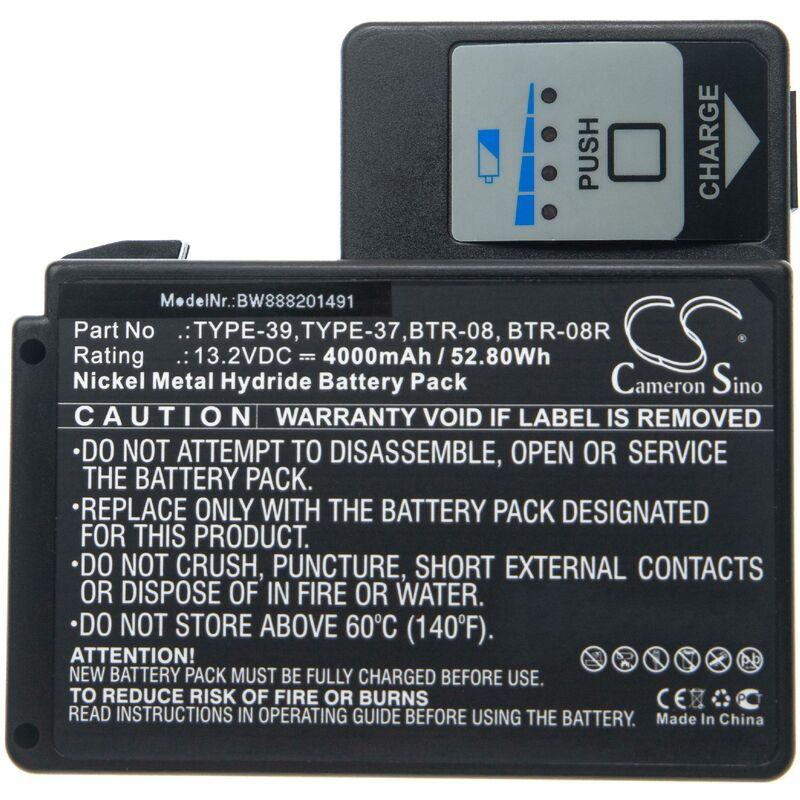 vhbw batterie remplace Fujikura BTR-10, BTR-10-AC pour soudeuse (4000mAh, 13,2V, NiMH)