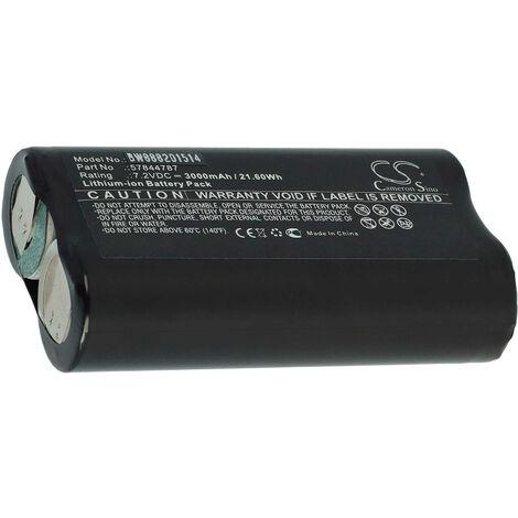 vhbw batterie remplace Gardena 57844787 pour débroussailleuse taille-haie sculpte haie sécateur (5000mAh, 7,2V, Li-Ion)