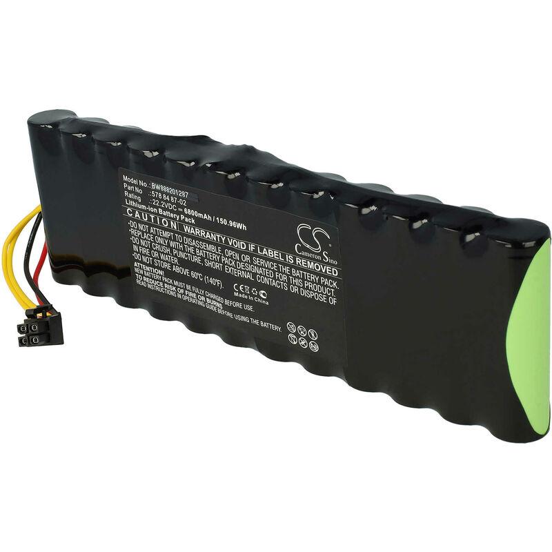 batterie remplace Husqvarna 578 84 87-04, 578 84 87-05, 5788487-02, 5788487-03 pour tondeuse à gazon robot tondeuse (6800mAh, 22.2V, Li-Ion) - Vhbw