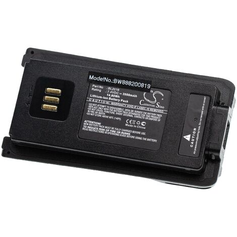 vhbw batterie remplace Hytera BL2016 pour radio talkie-walkie (2000mAh, 7.4V, Li-Ion)