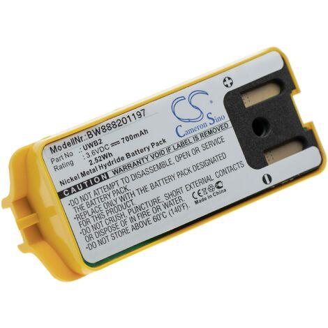 vhbw batterie remplace JAY UDB2 pour radio talkie-walkie (700mAh, 3,6V, NiMH)