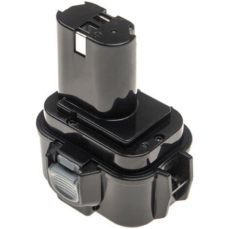 vhbw Batterie remplace Makita 193156-7, 193977-7, 638344-4-2, 9135A, ML9120, 9120, 9122, 9133 pour outil électrique (2100mAh NiMH 9,6V)