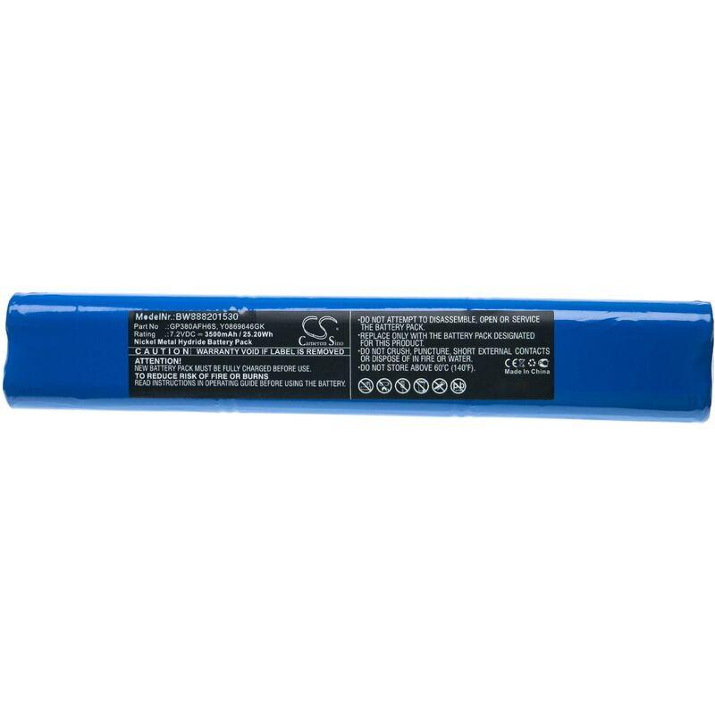 vhbw Batterie remplace Mettler Toledo GP380AFH6S, Y0869646GK pour outil de mesure (3500mAh 7,2V NiMH)