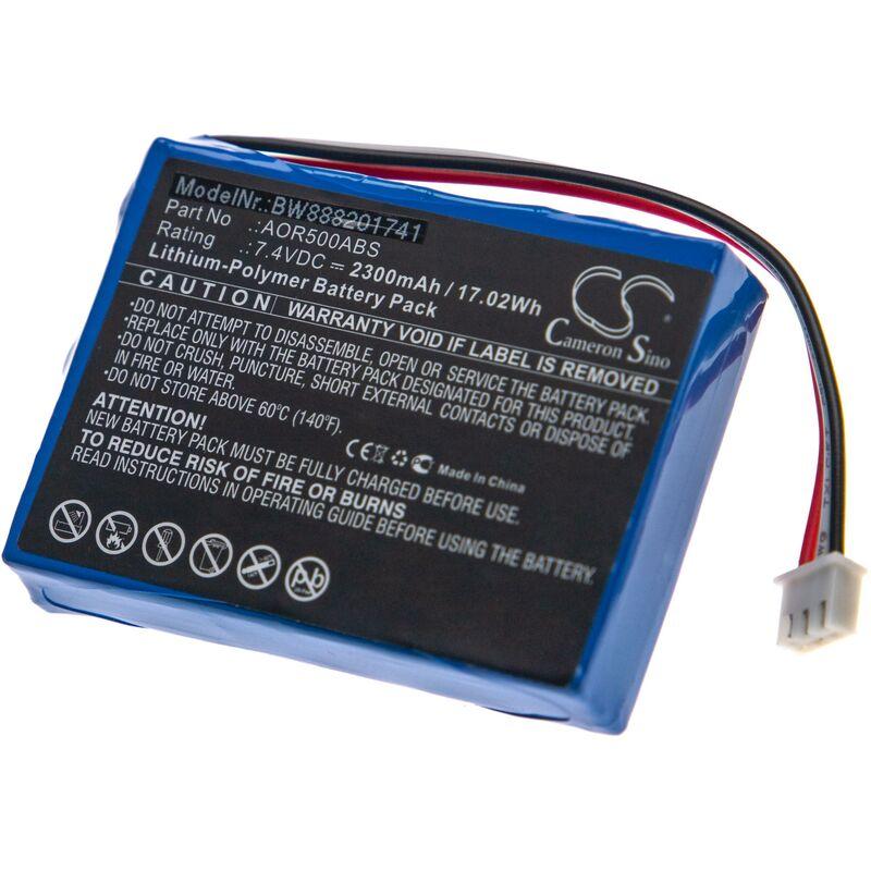 Batterie remplace TriBrer AOR500ABS pour fibre optique OTDR, outil de mesure (2300mAh 7,4V Li-Polymère) - Vhbw