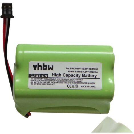 vhbw batterie remplacement pour BP120 pour radio talkie-walkie (1200mAh 4,8V NiMH)
