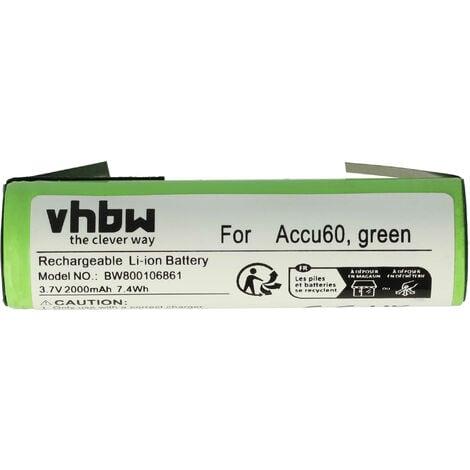 vhbw Batterie remplacement pour Gardena Accu60 Li-Ion, Accu 60 Li-Ion pour outil électrique (2000mAh Li-ion 3,6 V)