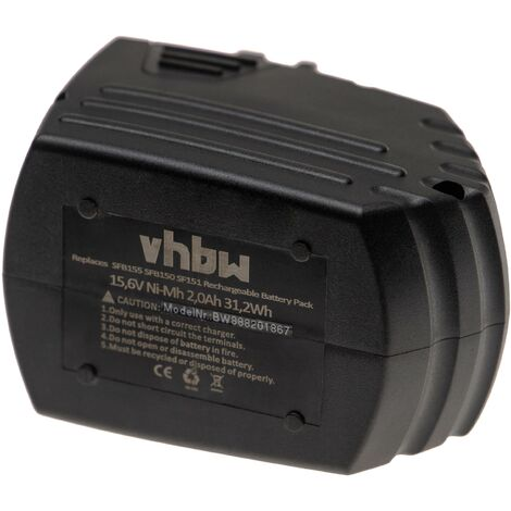 vhbw Batterie remplacement pour Hilti SFB150, SFB155 pour outil électrique (2000mAh NiMH 15,6V)