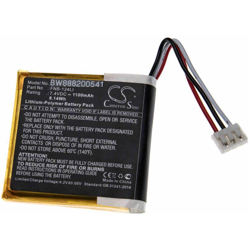 vhbw batterie remplacement pour Standard Horizon FNB-124LI pour radio talkie-walkie (1100mAh 7,4V Li-polymère)