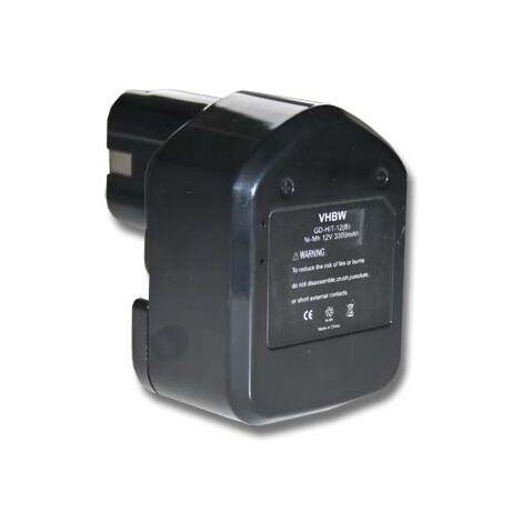 vhbw Battery 3300mAh for Tool Hitachi C 5D, C5D, CD 4D, CD4D, CL 13D, CL13D, DB 12DM2, DB12DM2, WH 12DAF replaces 324362, EB1212S, EB1214L, EB1214S.