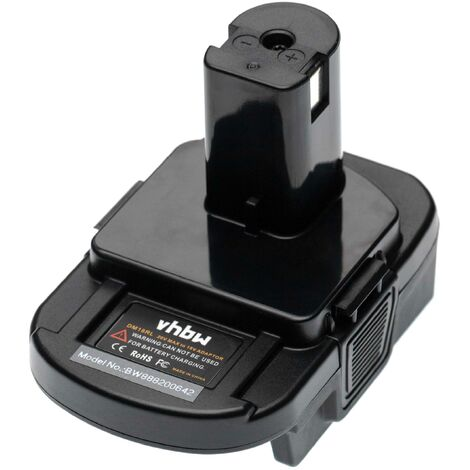 """main image of """"vhbw Battery Adapter compatible with DeWalt & Milwaukee Tool/Battery - For 20 V Li-Ion Batteries to 18 V Batteries, compatible with Ryobi Devices"""""""