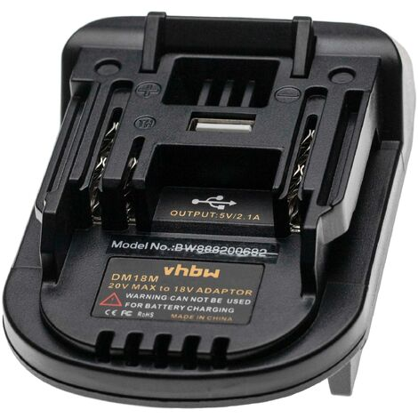 "main image of ""vhbw Battery Adapter compatible with Makita Tool/Battery - For 20 V Li-Ion Batteries to 18 V Ni-MH Batteries"""