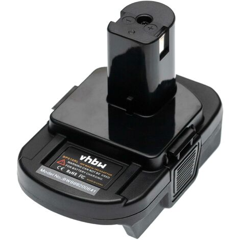 """main image of """"vhbw Battery Adapter compatible with Porter Cable Tool/Battery - For 20 V Li-Ion Batteries to 18 V Batteries, compatible with Ryobi Devices"""""""