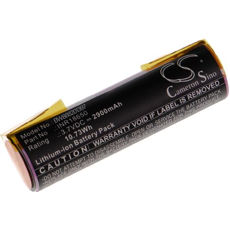 vhbw Battery Cell compatible with Einhell BT-SD 3.6/1 LI, N0E-3ET, N0E-3ET-3.6, RCG Electric Power Tools (2900mAh 3.7V Li-Ion)