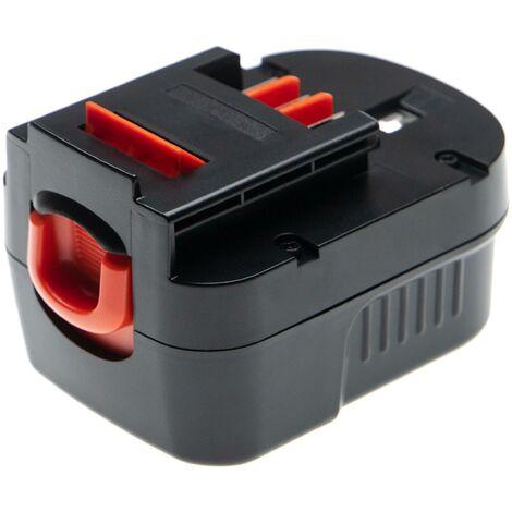 vhbw Battery compatible with Black & Decker HP122KD, HP126F2B, HP126F2K, HP126F3B, HP126F3K Electric Power Tools (3000mAh NiMH 12V)