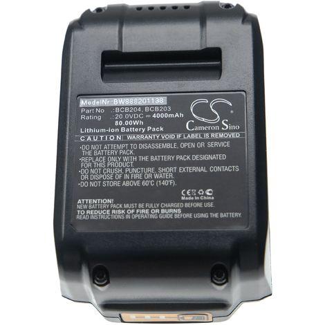 vhbw Battery compatible with Bostitch 15 GA FN Angled Finish Nailer Kit Electric Power Tools (4000mAh Li-Ion 20V)