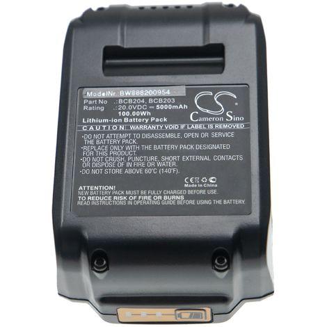 vhbw Battery compatible with Bostitch 16 GA Straight Finish Nailer Kit, 18 GA Brad Nailer Kit Electric Power Tools (5000mAh Li-Ion 20V)