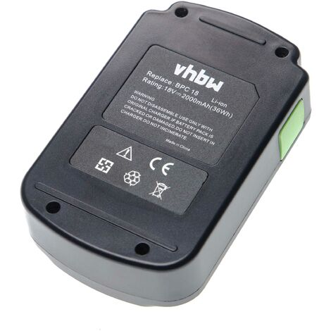 vhbw Battery compatible with Festo / Festool HKC 55 Li EB, ISC 240 Li EB, PSC/PSBC 400/420 Electric Power Tools (2000mAh Li-Ion 18V)