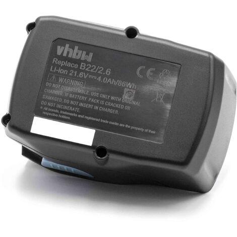 vhbw Battery compatible with Hilti SC 70W-A22, SR 4-A22, SR 6-A22, SJD 6-A22, SJT 6-A22, SB 4-A22, SCO 6-A22, AG 4S-A22 (125) (4000mAh Li-Ion 21.6V)